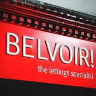 Belvoir shallow built up lettering