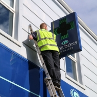 gordons chemists screen installation