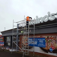 domino's 3d illuminated fascia