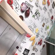 kfc internal wall graphics
