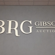 BRG raised lettering