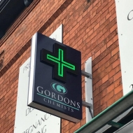 gordons chemists digital LED cross