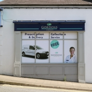gordon's chemists window graphics