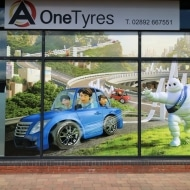 a one tyres window graphics