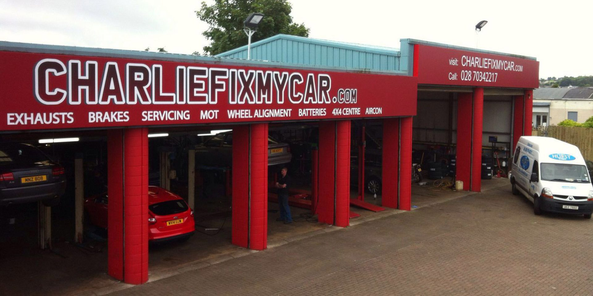 Fix My Car >> Creating Corporate Signage For Charlie Fix My Car Coleraine