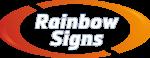 rainbow signs top logo