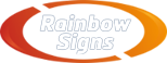 rainbow signs top logo